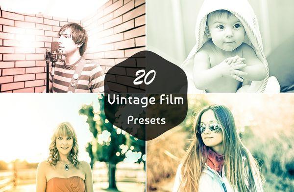 20 Vintage Film Lightroom Presets