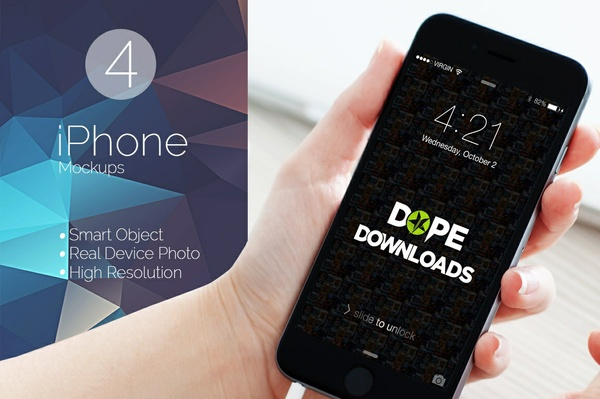 iPhone Mockup V1 Template