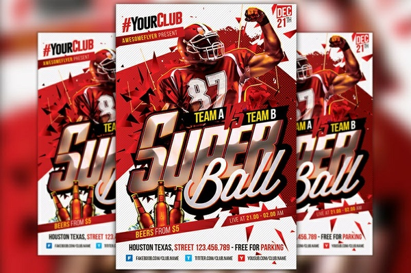 Super Ball Flyer Template
