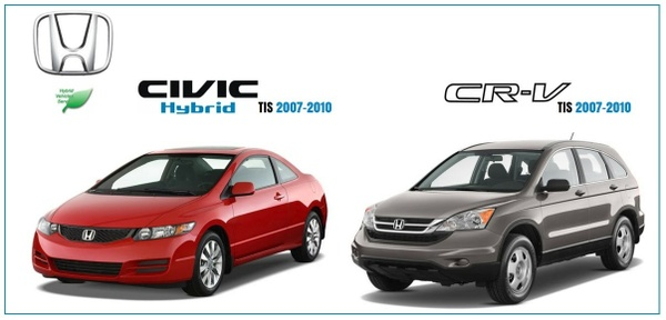 HONDA CIVIC HYBRID & CRV TIS 2007-2010 WORKSHOP MANUALS.