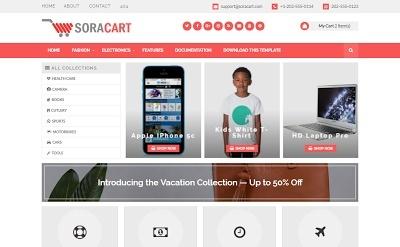 Sora Cart Blogger Template Premium Version