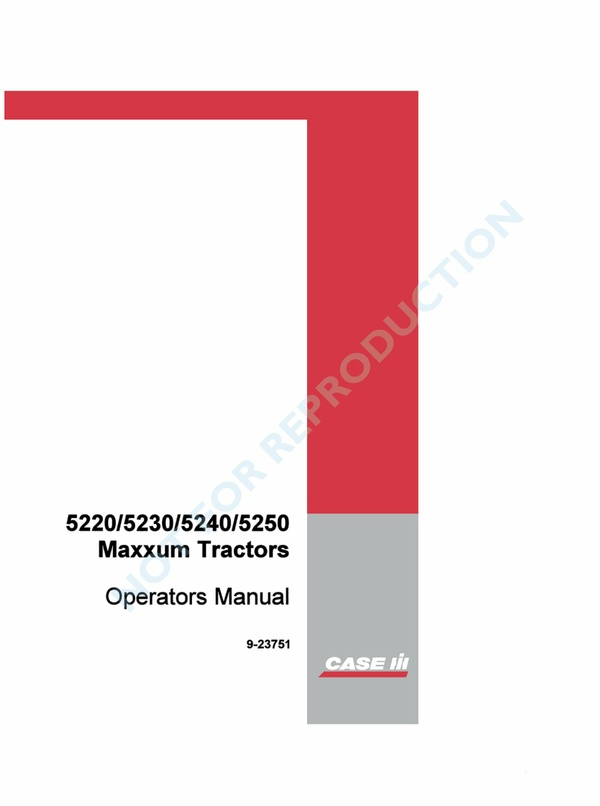PDF Case Ih Maxxum 5220 5230 5240 5250 Operator Manual