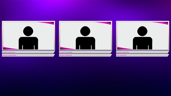 Pink and Silver Twitch Camera Overlay Template