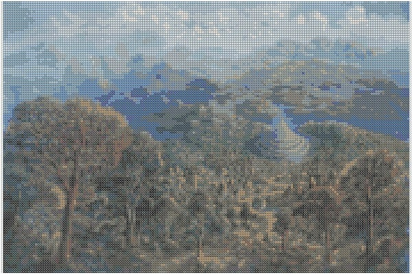 cross stitch pattern Mar-011c