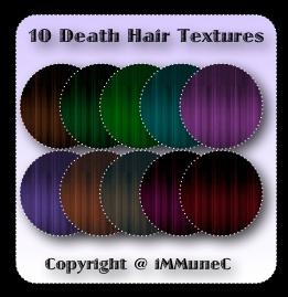 10 Death Hair Textures With Resell Rights