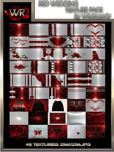 ~ RED WEDDING IMVU TEXTURE PACK ~