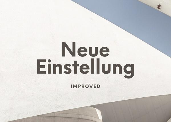 Neue Einstellung Typeface Family