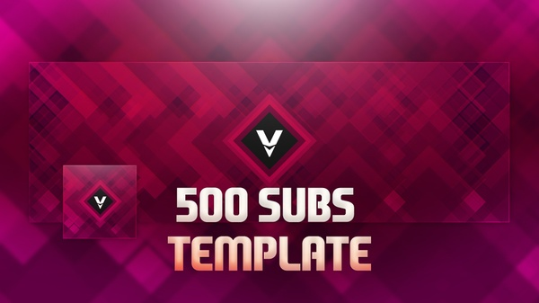 500 Subscribers Abstract Emerald Twitter Header Template