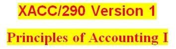 XACC 290 Week 6 Financial Reporting Problem Part 1