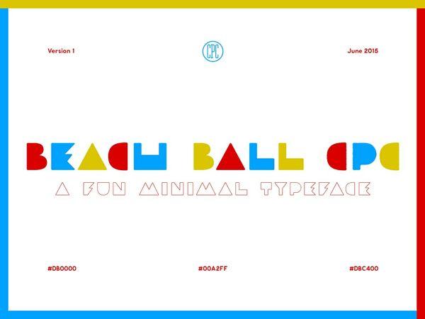 Beach Ball CPC - A fun minimal typeface