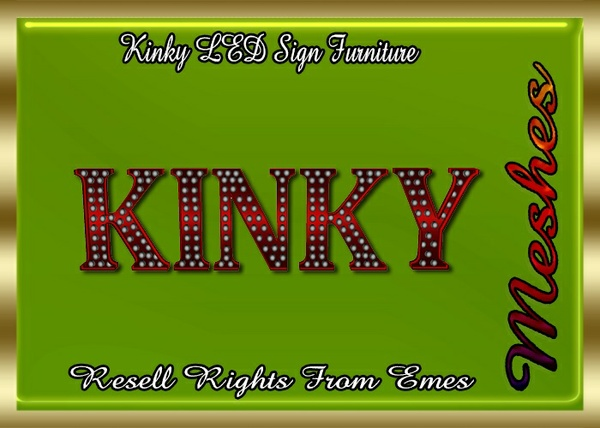 Kinky LED Sign Furniture Catty Only!!!