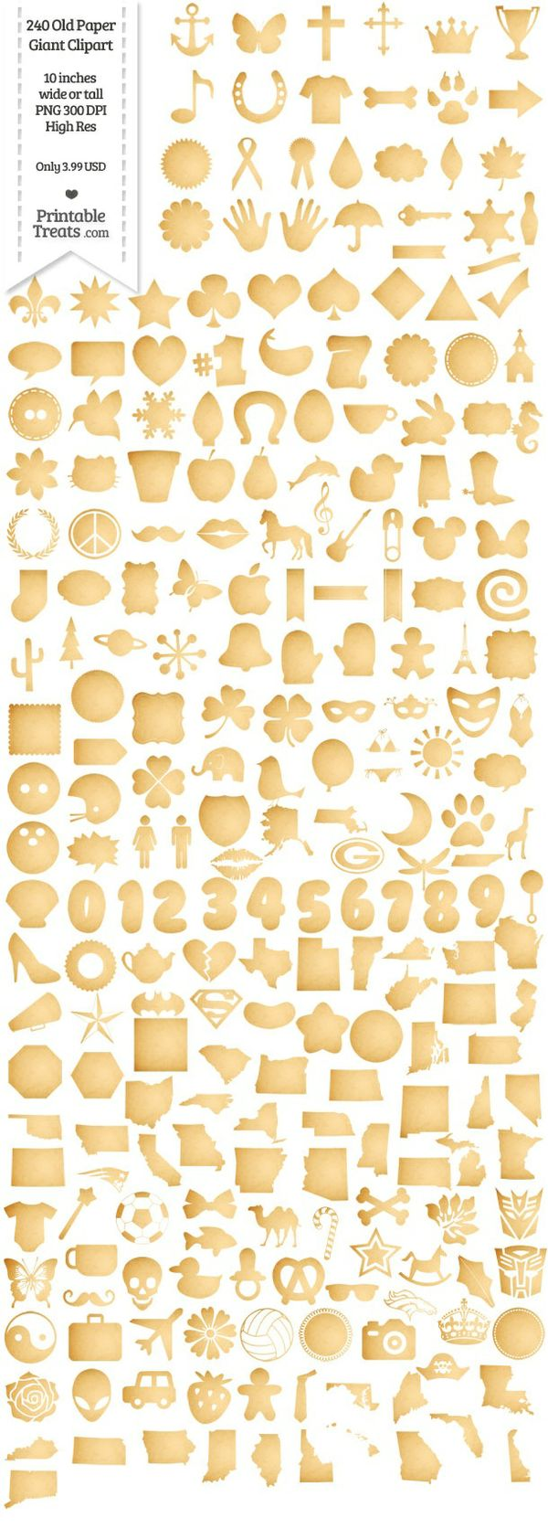 240 Old Paper Giant Clipart Password