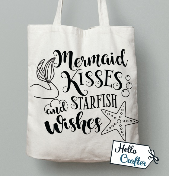 Mermaid Kisses and Starfish Wishes Commercial License