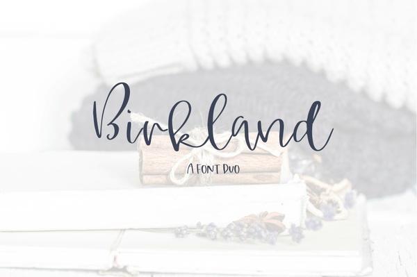 Birkland - A Classic Font Duo
