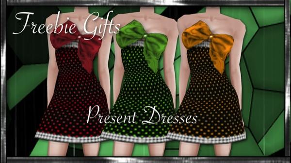 3 FREE Present Dress Textures created by iMMuneC @ IMVU