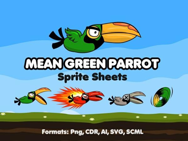 Mean Green Parrot