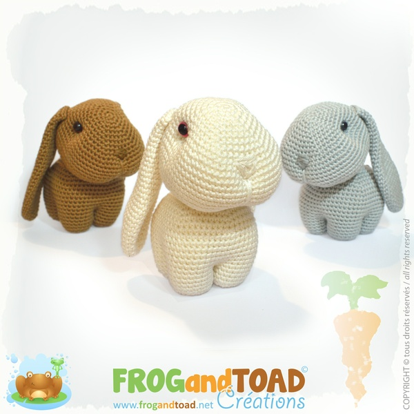 Lapin / Rabbit - Amigurumi Crochet - PDF Patron / Pattern  - FROGandTOAD Créations ©