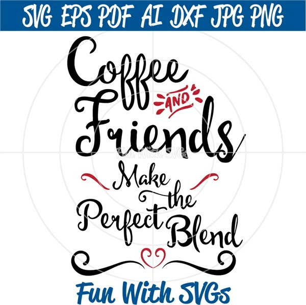 Coffee and Friends - SVG Cut File, High Resolution Printable Graphics and Editable Vector Art