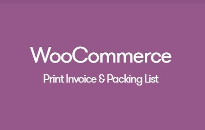 WooCommerce Print Invoices and Packing Lists 3.3.5 Extension