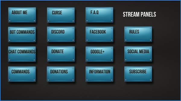 Twitch.tv Buttons - Icons