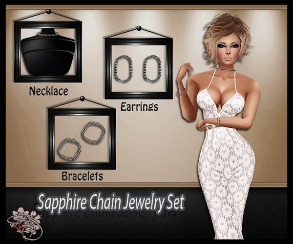 Sapphire Chains Jewelry Mesh Set