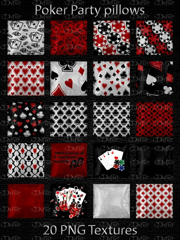 Poker Party Pillows
