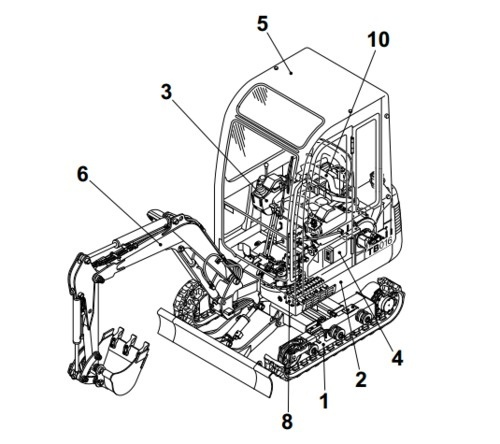Takeuchi TB68S Loaded Engine Model SD334 Parts Manual