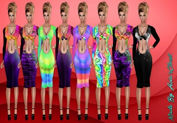 Kelia Splash Color Dresses