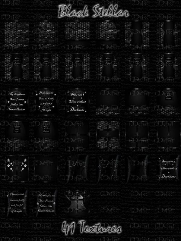 Black Stellar Room Texture