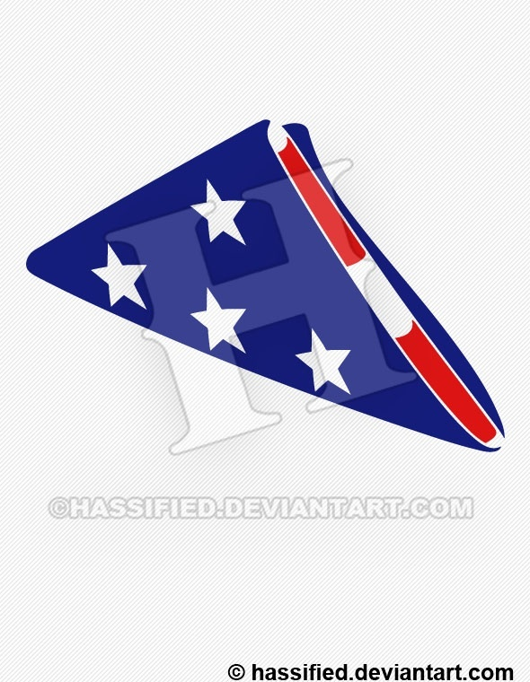 Folded American Flag - printable, vector, svg, art