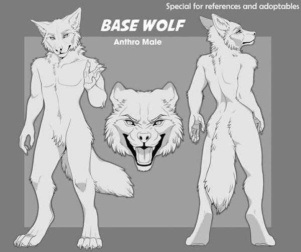 Base Wolf anthro (Male)