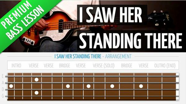 I Saw Her Standing There (Premium Bass Lesson)