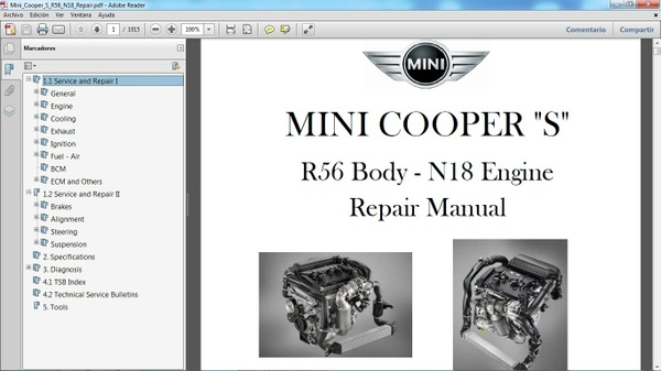 MINI COOPER S R56 2011-2014 - Manual de Taller - Workshop Manual