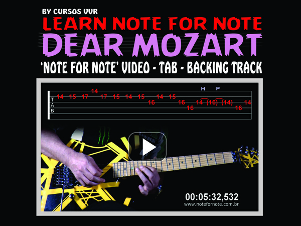 'DEAR MOZART ROCK SOLO'  NOTE FOR NOTE WITH TAB AND BACKING TRACK