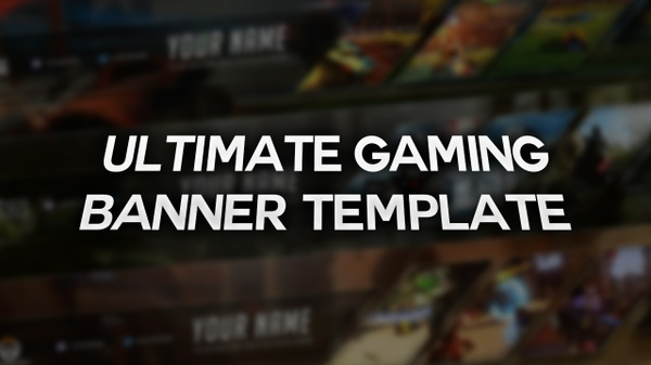 Ultimate Gaming YouTube Banner Template