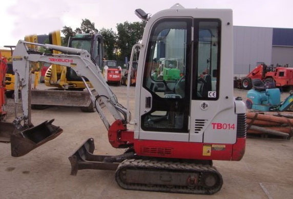 Takeuchi TB014 TB016 Compact Excavators Service Repair Workshop Manual Download(BOOK No. CC4E001)