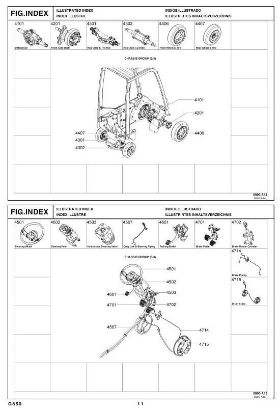 Toyota LPG Forklift Type 8FGCSU20, 8FGCU15, 8FGCU18 Parts Manual