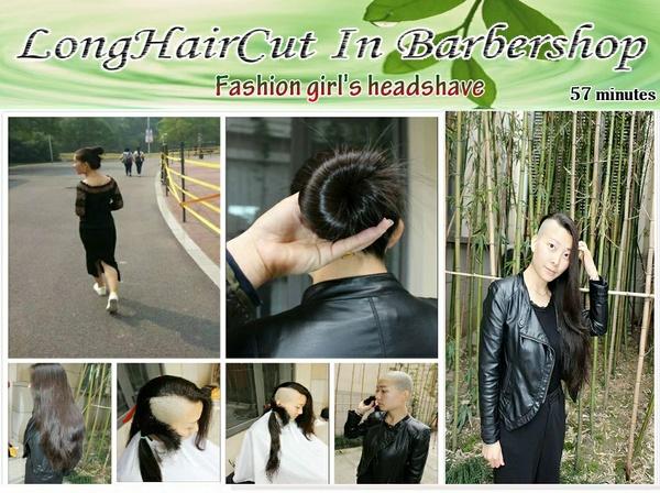 Fashion girl's headshave