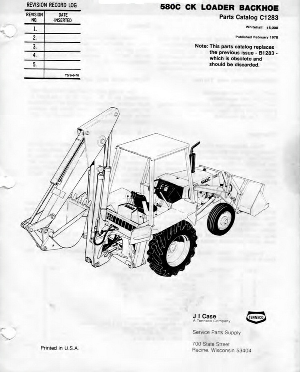 Pdf Download Case Tractor 580C 580CK Parts Manual