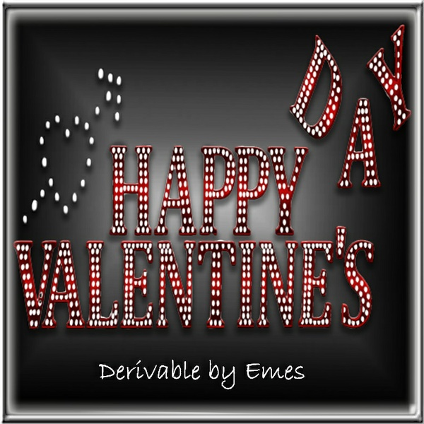 HAPPY VALENTINE'S DAY SIGN MESH