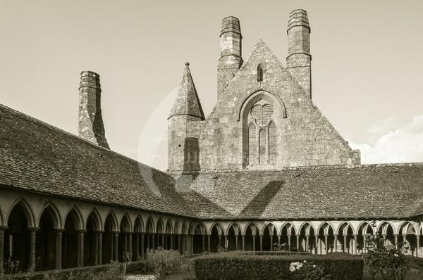 Cloister in Mont Saint Michel