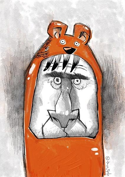 I am Orange Bear! A3 300dpi - usd 1.10 only! promo price!