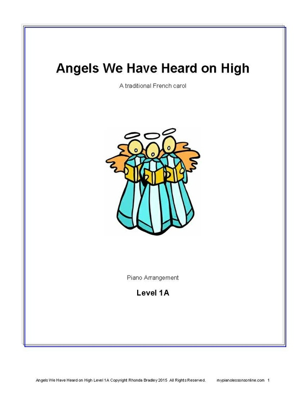 Angels We Have Heard on High sheet music Level 1A