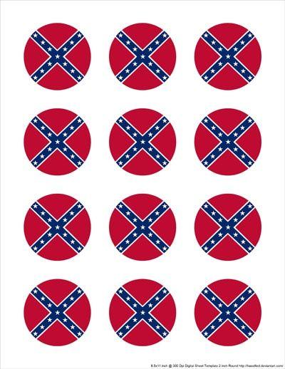 Confederate 2 inch Round