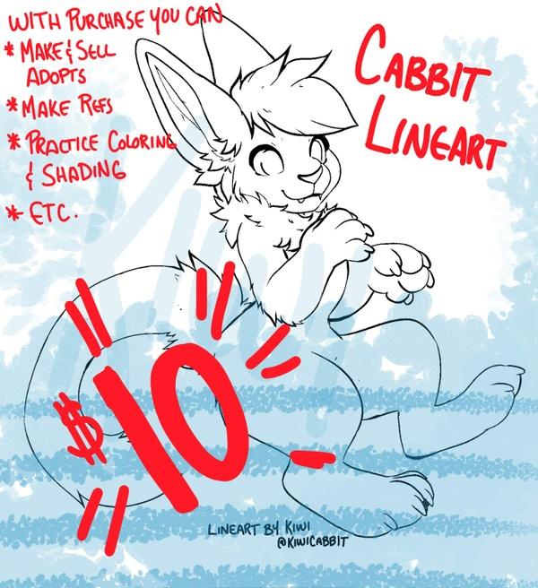 P2U Cabbit Lineart