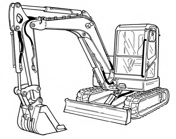 Bobcat E60 Compact Excavator Service Repair Manual Download(S/N AGSZ11001 & Above AET811001 & Above)