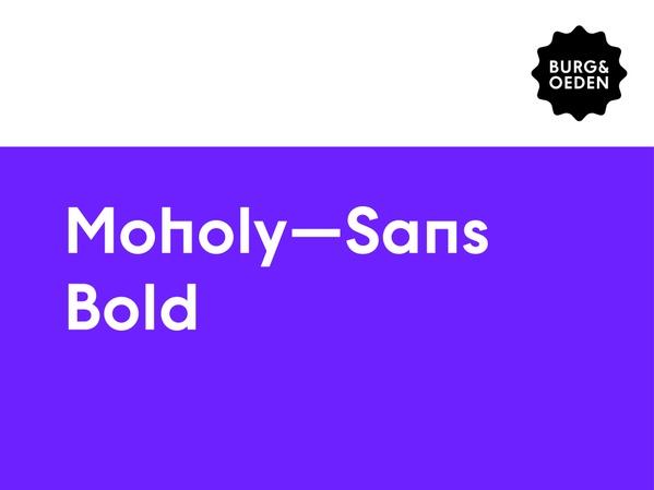 Moholy Sans Typeface / Bold