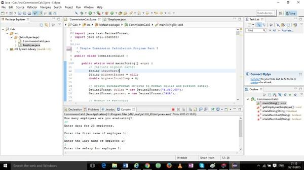 Modified  Week Three Java Application
