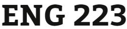 ENG 223 Week 4 Progress Report