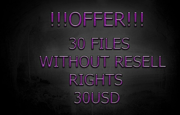 30 Files WITHOUT Resell Right 30USD